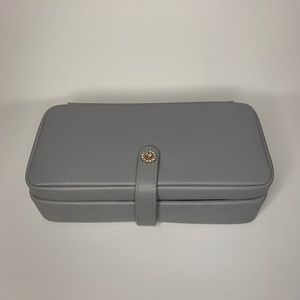 Tuscan Designs | Gray Jewelry Box with Mirror
